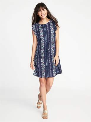 Old Navy Ruffle-Trim Shift Dress for Women