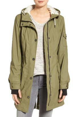 Women's 1 Madison Contrast Cuff Fishtail Anorak $168 thestylecure.com
