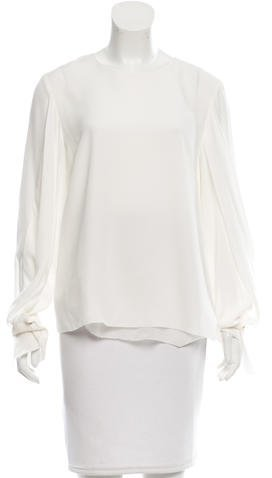 3.1 Phillip Lim 3.1 Phillip Lim Long Sleeve Silk Top