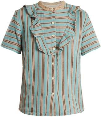 Ace&Jig Fiona ruffle-trimmed cotton-gauze blouse