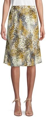 Marni Confetti-Print Silk Skirt