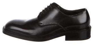 Gucci Leather Square-Toe Oxfords