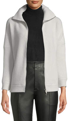 Gentry Portofino Cashmere Zip-Up Cardigan