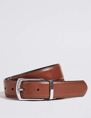 Marks and Spencer Leather Rectangular Buckle Reversible Belt