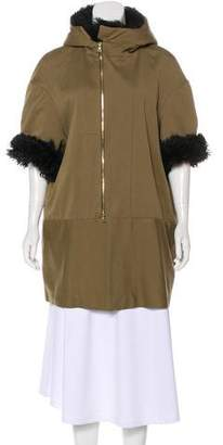 Marni Faux Fur-Trimmed Hooded Coat