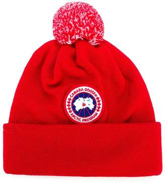 Canada Goose Kids logo patch knitted hat