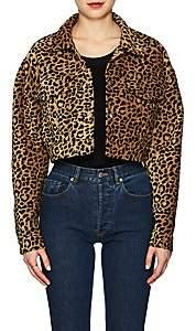 RE/DONE Women's Leopard-Pattern Crop Jacket