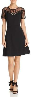 Nanette Lepore nanette Short-Sleeve Embroidered Lace Dress