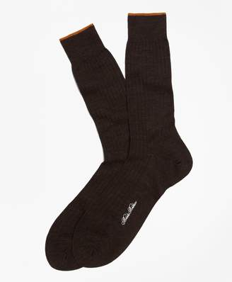Brooks Brothers Merino Wool Golden Fleece Sized Crew Socks