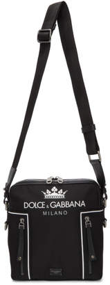 Dolce & Gabbana Black Logo Messenger Bag