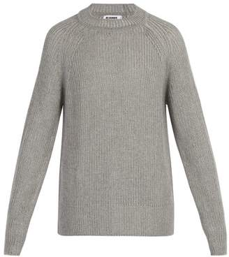 Jil Sander Ribbed Knit Sweater - Mens - Grey