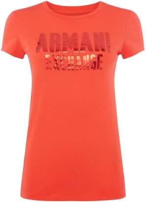 Armani Exchange Short Sleeve Crew Neck Logo Tee
