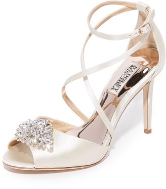 Badgley Mischka Tatum Peep Toe Sandals $225 thestylecure.com