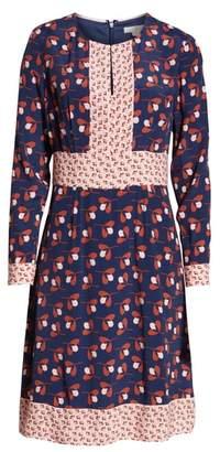 Boden Daisy Mixed Print Dress