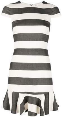 Alice + Olivia Alice+Olivia striped ruffle-hem dress