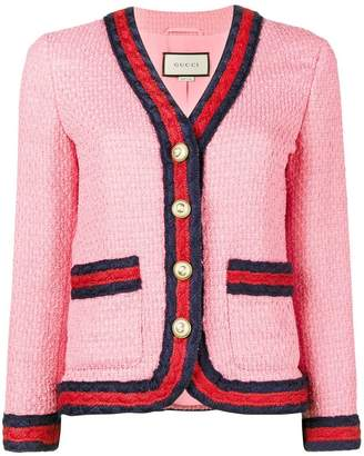 Gucci Slim Fit Blazer with Contrasting Piping