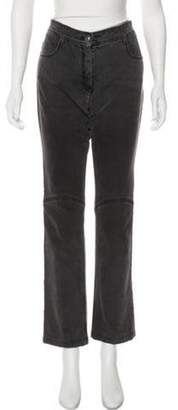 Chanel Mid-Rise Straight-Leg Jeans Grey Mid-Rise Straight-Leg Jeans