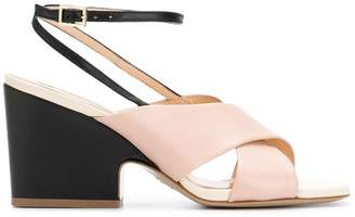 Fabio Rusconi black and pink sandals