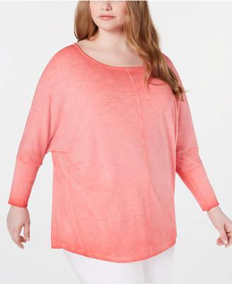 251b644064e2c2 Seven7 Jeans Trendy Plus Size Cotton Dolman Top
