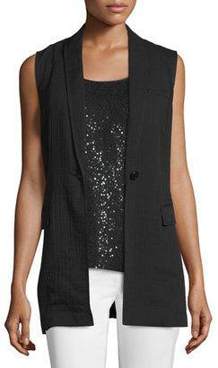 Lafayette 148 New York Julianne One-Button Vest $348 thestylecure.com
