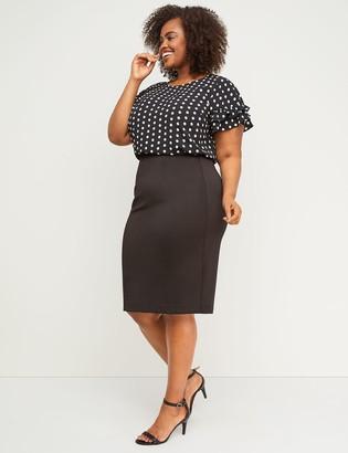 c45d3ad0c6 Plus Size Scuba Skirt - ShopStyle