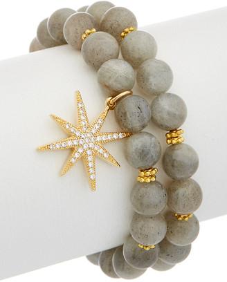 Rachel Reinhardt 14K Plated Star Stretch Bracelet