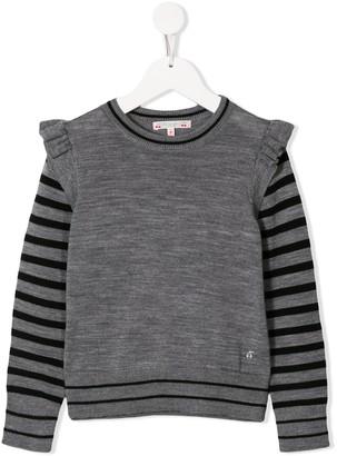 Bonpoint ruffled shoulder sweater