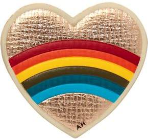 Anya Hindmarch Heart Metallic Textured-Leather Sticker
