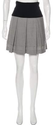 Diane von Furstenberg Box Pleat Mini Skirt