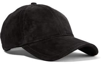 Rag   Bone Marilyn Leather-trimmed Suede Baseball Cap - Black 635d1f202e01