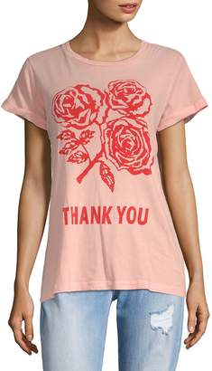Wildfox Couture Women's Graphic Thank You Cotton Tee