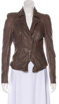 Muu Baa Muubaa Zip-Up Leather Jacket w/ Tags