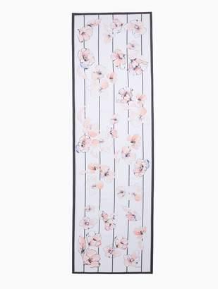 St. John Painted Pale Floral Silk Georgette Scarf
