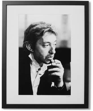 Sonic Editions Framed 1978 Serge Gainsbourg Print, 16 X 20