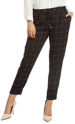 Dex Windowpane Drawstring Pants