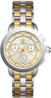 Tory Burch TORY WATCH, TWO-TONE/IVORY CHRONOGRAPH, 37 MM