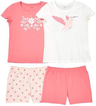La Redoute Collections Pack of 2 Cotton Short Pyjamas, 2-12 Years