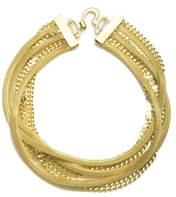 Fallon Bourdin Mesh Necklace, Gold