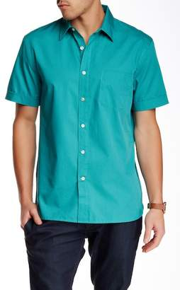 Perry Ellis Short Sleeve Regular Fit Dobby Shirt