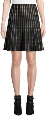 Max Studio Striped A-Line Sweater Skirt