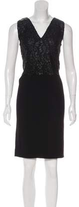 Balenciaga Lace-Trimmed Mini Dress