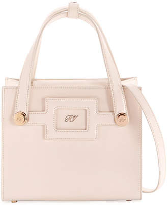 Roger Vivier Small Leather Shopping Tote Bag
