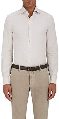 Isaia MEN'S COTTON-CASHMERE TWILL DRESS SHIRT