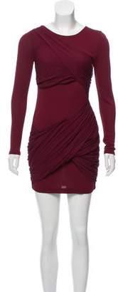 Alice + Olivia Silk-Accented Bodycon Dress