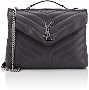 Saint Laurent Women's Monogram Loulou Medium Leather Shoulder Bag