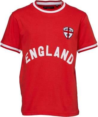 Brave Soul Junior Boys England T-Shirt Red