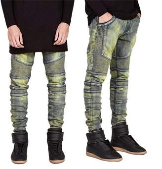 TurdyIsa Comfortable Denim Trousers Elastic Jeans Casual Slim Men Jeans Long Pants Size 30