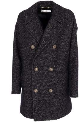 Saint Laurent Half Belt Pea Coat