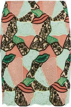 Emilio Pucci Paneled Lace Mini Skirt