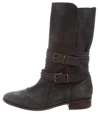 Joie Leather Mid-Calf Boots